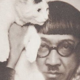 F 0007 Dora Kalmus - Foujita with cat