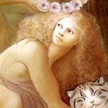 D 0137 Leonor Fini - The crowning of the happy cat