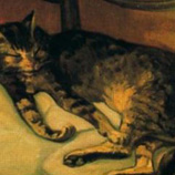 Theophile Alexander Steinlen - The sleeping cat